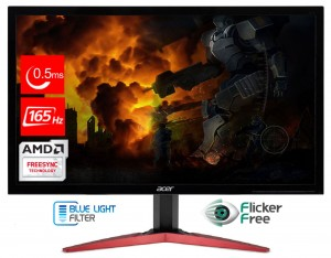 "ACER 24"" KG241QSbiip - FullHd 165Hz, 0.5ms, AMD FreeSync Hdmi DisplayPort"