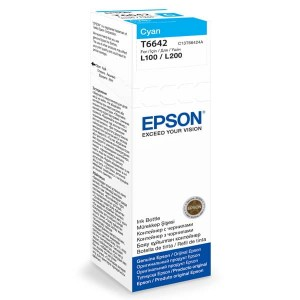 Epson Tusz T6642 CYAN 70ml butelka do L100/110/200/210/300/355/550